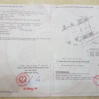 Bán nhà hẻm 496/1/74G Dương Quảng Hàm, Phường 6, Gò Vấp, 11,5x24m, cấp 4 lửng, 18 tỷ
